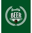 Retro beer label vector