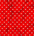 Crumpled polka dot hearts vector