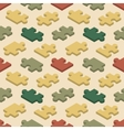 Seamless pattern with the jigsaw puzzle pieces vector
