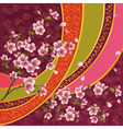 Japanese pattern with sakura blossom vector