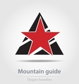 Original mountain guide business icon vector