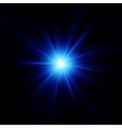 Blue color design with a burst eps 10 vector