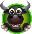 Cute buffalo head cartoon vector