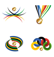 Gold medal with ribbon file layered for easy vector