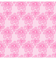 Pink seamless flower lace pattern vector