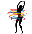 Hoop woman vector