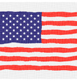 American flag for independence day vector
