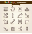 Hand draw arrow icon set vector
