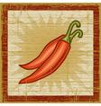Retro chili pepper vector