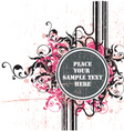 Grunge floral tag vector