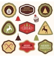 Collection of christmas and new years stickers vector
