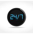 24x7 icon vector