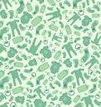 Green baby born seamless pattern vector