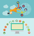 Element of social media icon in flat design vector