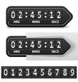 Countdown black mechanical timer vector