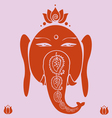 Ganesh and lotuses poster vector