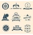 Summer sea emblems black vector