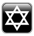 Magen david symbol button vector
