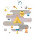 Adventure camping icon vector