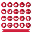 Love icons set vector