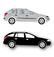 Silhouettes of car black vector