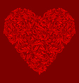 Decorated red heart vector