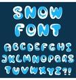 Christmas snow alphabet vector