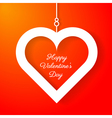 Heart applique on orange background vector