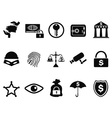 Bank security icons set vector