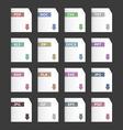 File extensions icons set pdf mp3 txt doc docx jpg vector