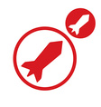 Rocket simple single color icon isolated on white vector