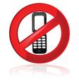 No cell phones vector