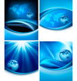 Set of business elegant abstract backgrounds with vector