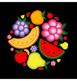 Energy fruit background vector
