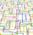 Abstract color metro scheme in perspective vector