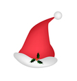 A lovely red santa hat on white background vector