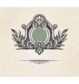 Vintage ornate shield vector
