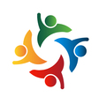 Four people-teamwork vector