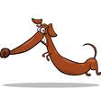 Cartoon happy dachshund dog vector