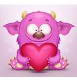 Monster in love vector