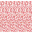 Seamless flower lace made of lines vector
