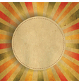 Square shaped sunburst with speech bubble vector