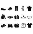 Black men fashion icons set vector
