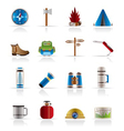 Tourism and holiday icons vector