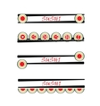Set of sushi sign vector