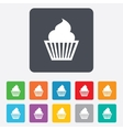 Muffin sign icon cupcake symbol vector