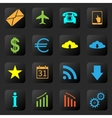 Web icons on the black background vector