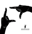 Hands shaped in viewfinder detailed black and vector