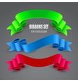 Set of ribbons vector