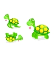 Cute turtle toy icon set vector